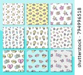 fashionable vector patches... | Shutterstock .eps vector #794996518