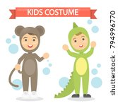 kids costumes set. babies in...   Shutterstock .eps vector #794996770