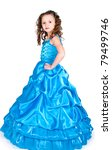 the girl in a beautiful dress... | Shutterstock . vector #79499746