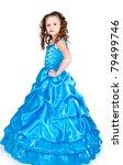 the girl in a beautiful dress... | Shutterstock . vector #79499746