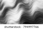 black and white wavy striped...   Shutterstock . vector #794997766