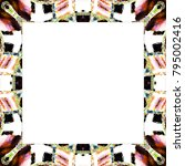 rectangular frame of colorful... | Shutterstock . vector #795002416