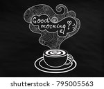 vector handwritten coffee cup... | Shutterstock .eps vector #795005563