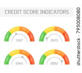 credit score indicators set.... | Shutterstock .eps vector #795008080