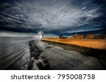 wheat field  in the antwerp...   Shutterstock . vector #795008758