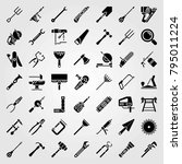 tools vector icons set.... | Shutterstock .eps vector #795011224