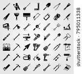 tools vector icons set. pipe... | Shutterstock .eps vector #795011338