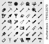 tools vector icons set. cutter  ... | Shutterstock .eps vector #795012070