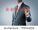 increase rating  ranking ...   Shutterstock . vector #795016006