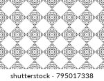 black and white kaleidoscopic... | Shutterstock . vector #795017338
