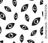 eye seamless pattern background....   Shutterstock .eps vector #795019156