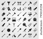 tools vector icons set. wire... | Shutterstock .eps vector #795019258