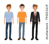 character of man in different... | Shutterstock .eps vector #795021619