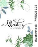 design of wedding invitation | Shutterstock .eps vector #795025123