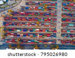 industrial cargo area with... | Shutterstock . vector #795026980