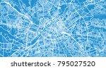 urban vector city map of... | Shutterstock .eps vector #795027520