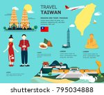 traveling to taiwan by...   Shutterstock .eps vector #795034888