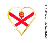 flag of jersey in the shape of... | Shutterstock .eps vector #795034918