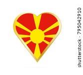 flag of macedonia in the shape... | Shutterstock .eps vector #795042910