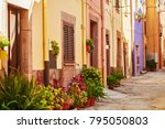 typical colorful italian houses ...   Shutterstock . vector #795050803