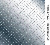 chrome diamond plate realistic... | Shutterstock .eps vector #795054088