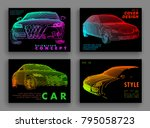art image of a auto. vector car ... | Shutterstock .eps vector #795058723