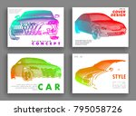 art image of a auto. vector car ... | Shutterstock .eps vector #795058726