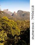 Mountains and vegetation - stock photo