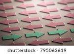 3d illustration of red arrows... | Shutterstock . vector #795063619