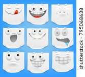 collection of various white... | Shutterstock .eps vector #795068638