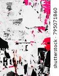 old grunge ripped torn vintage... | Shutterstock . vector #795071860