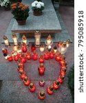 Small photo of candles at All Saints Day