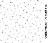 black and white seamless... | Shutterstock . vector #795086548
