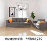 idea of a white scandinavian... | Shutterstock . vector #795089260