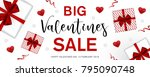 valentines day sale background. ... | Shutterstock .eps vector #795090748