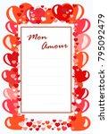 vector template postcard mon...   Shutterstock .eps vector #795092479
