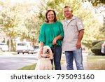 portrait of senior couple... | Shutterstock . vector #795093160