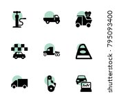 automobile icons. vector... | Shutterstock .eps vector #795093400