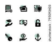 secure icons. vector collection ...