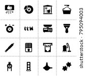 machine icons. vector...