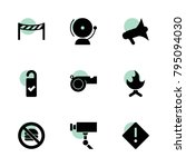 warning icons. vector...