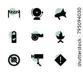 warning icons. vector...