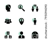 user icons. vector collection...