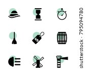 vintage icons. vector...