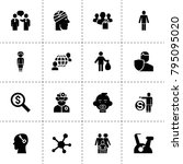 people icons. vector collection ... | Shutterstock .eps vector #795095020