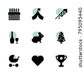celebration icons. vector...