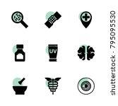 medicine icons. vector... | Shutterstock .eps vector #795095530