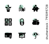 economy icons. vector... | Shutterstock .eps vector #795095728