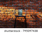old wooden chair in the room... | Shutterstock . vector #795097438