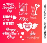 valentine's day typography ... | Shutterstock .eps vector #795098086